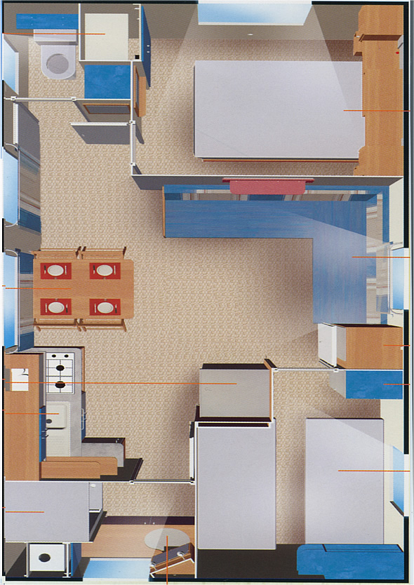 Plan Mobil home Rapid'home-O'Hara-Watipi-IRM 4/6 places